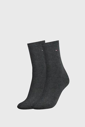 2 PÁR Tommy Hilfiger Casual sötétszürke női zokni