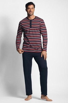 Červeno-modré pruhované pyžamo