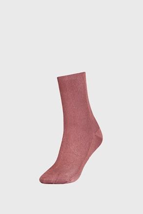 Tommy Hilfilger Small rib rózsaszínű női zokni