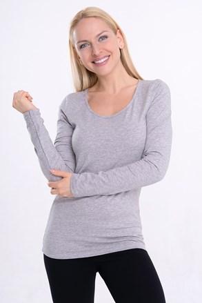 Lunga női póló, hosszú ujjú