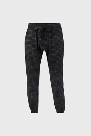 Kockované čierne nohavice Pj Drake