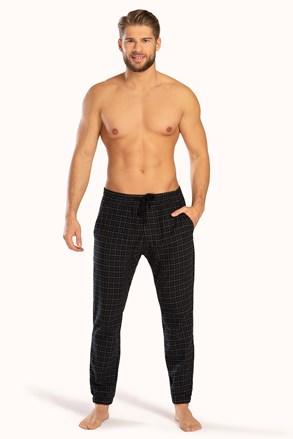 Fekete kockás mintás nadrág Pj Drake