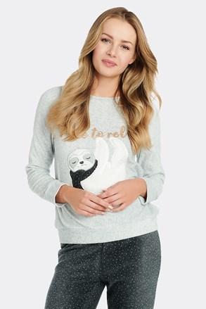 Dámska fleecové tričko na spanie