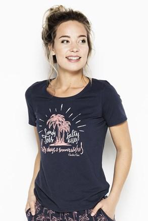 Dámske pyžamové tričko Palm trees