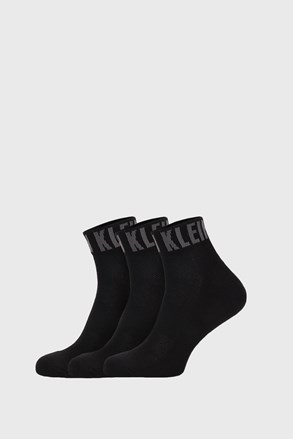 3 PÁR fekete zokni Calvin Klein Drake