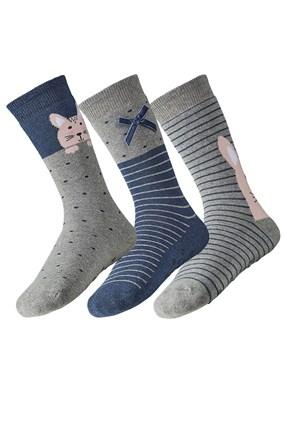 3 pack dámskych hrejivých ponožiek Rina