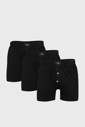 Tom Tailor férfi alsónadrág fekete, 3 db 1 csomagban