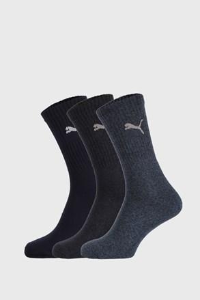 3 PÁR sötétkék zokni Puma Sport