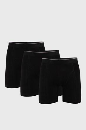 3 PACK čiernych boxeriek Tender