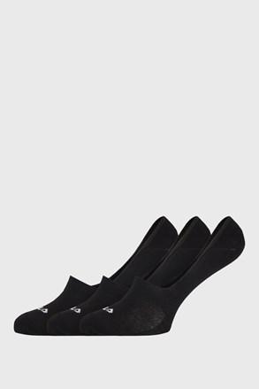 3 PACK čiernych ponožiek FILA Ghost