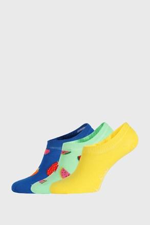 3 PACK ponožiek Happy Socks Fruits No Show