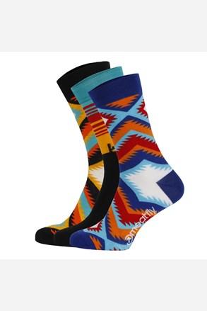 3 pack farebných ponožiek Meatfly Arizona