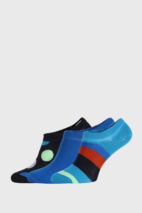 3 PACK ponožiek Happy Socks Stripes No Show