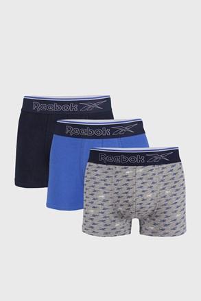3 PACK modrých boxeriek Reebok Corey