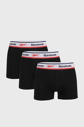 3 PACK čiernych boxeriek Reebok Jonath