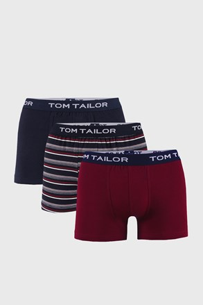 3 PACK modro-červených boxeriek Tom Tailor