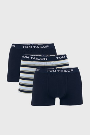 3 PACK modrých boxeriek Tom Tailor Elastic