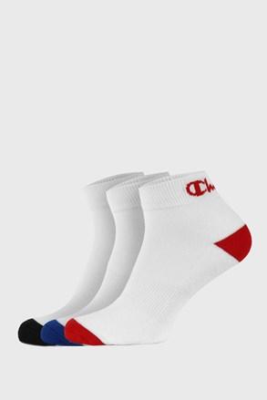 3 pack členkových bielych ponožiek Champion