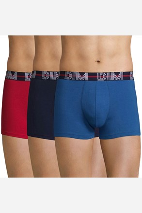 3 pack pánskych boxeriek DIM farebné