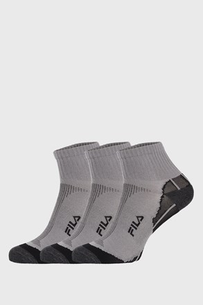 FILA Multisport uniszex zokni szürke, 3 db 1 csomagban
