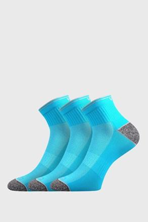 3 pack športových ponožiek Ray neónovo-tyrkysové
