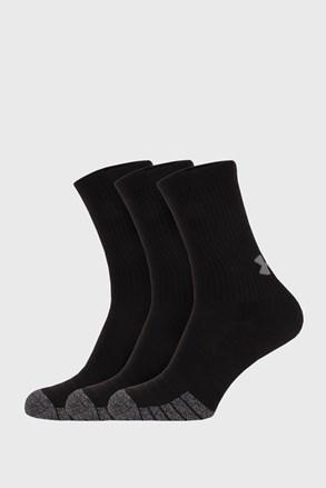 3 PÁR magas szárú fekete zokni Under Armour