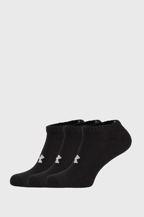 3 PÁR rövid szárú fekete zokni Core Under Armour