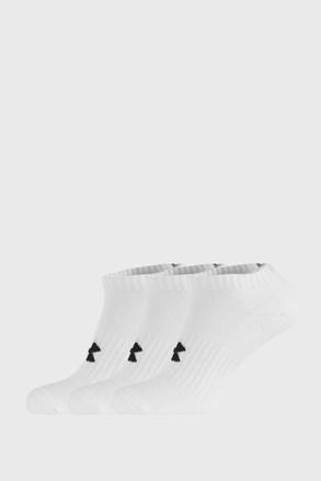 3 PÁR rövid szárú fehér zokni Core Under Armour