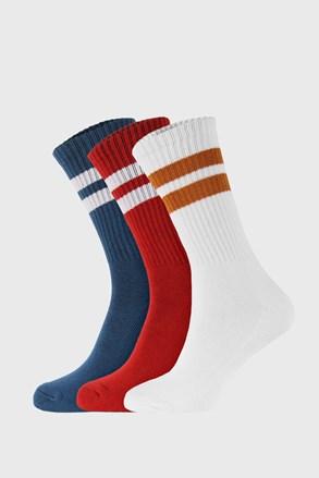 3 PACK farebných ponožiek Active