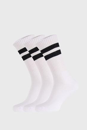 3 PACK bielych ponožiek Active