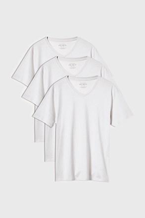 3 PACK bielych tričiek Kane