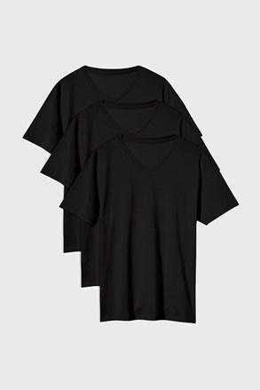 3 PACK čiernych tričiek Kane
