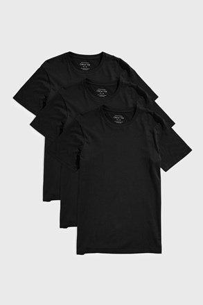 3 PACK čiernych tričiek Austin