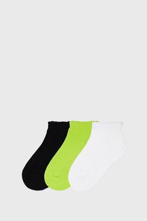 3 PACK nízkych dievčenských ponožiek Mayoral Limetka