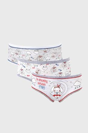 3 PACK dievčenských nohavičiek Dream