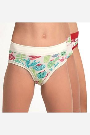 3 pack dievčenských nohavičiek Kaktus