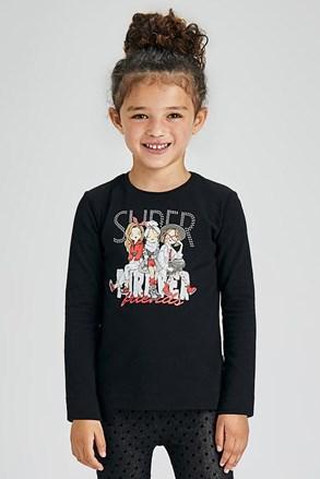 Dievčenské tričko s dlhým rukávom Mayoral Super