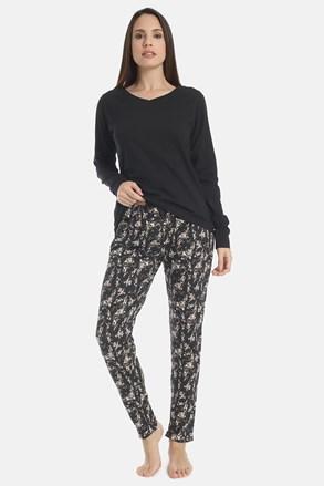 Dámske pyžamo Flowery black
