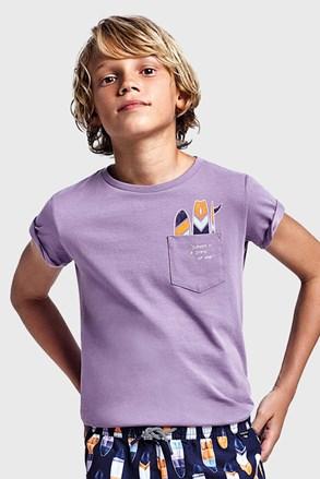 Chlapčenské tričko Mayoral Grape fialové