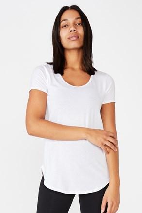 Gym fehér sport póló