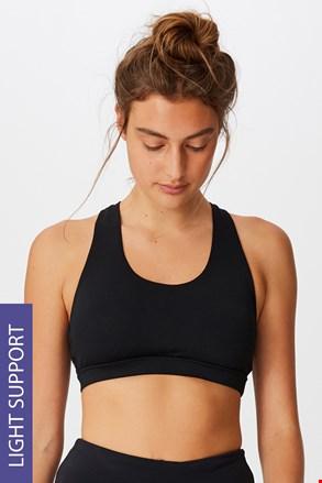 Workout Crop sportmelltartó, fekete