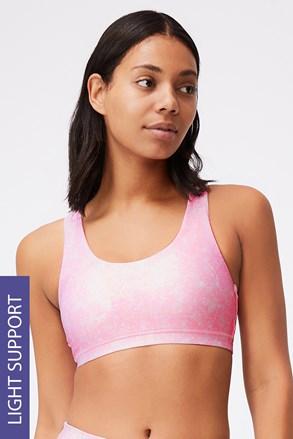 Strappy sportmelltartó,  rózsaszínű
