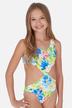 Dievčenské jednodielne plavky Tropical
