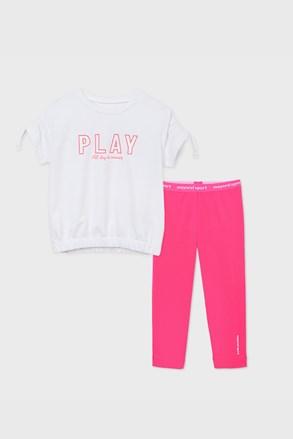 Komplet športového dievčenského trička a legín Play