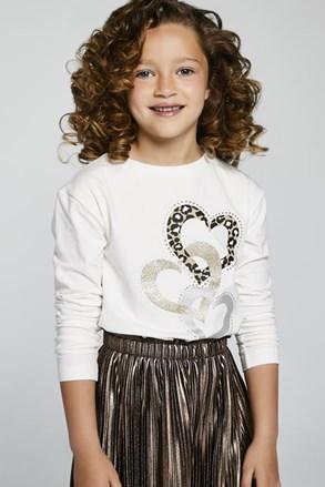 Dievčenské tričko s dlhým rukávom Mayoral Hearts