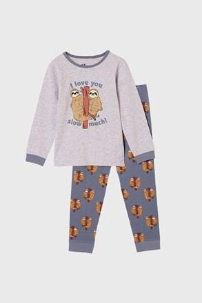 Lajhár fiú pizsama, hosszú