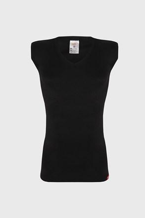 Čierne termo tričko bez rukávov