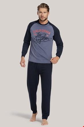 Pánske pyžamo modré s nápisom