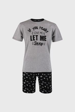 Szürke-fekete pizsama Dorph
