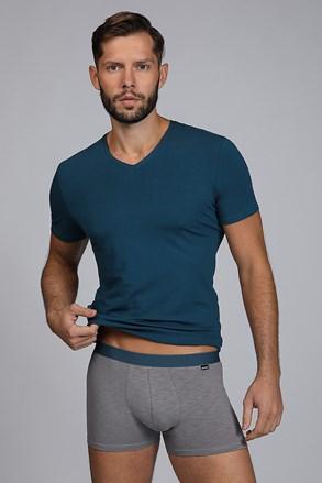 Pánsky komplet trička a boxeriek Raw man modro-zelený